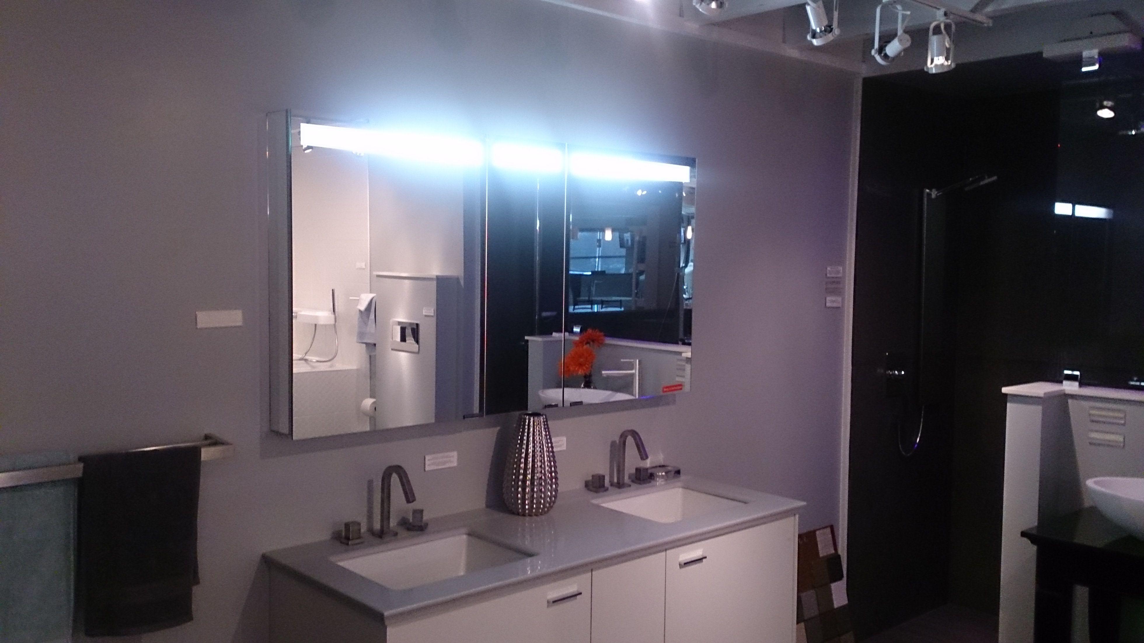 Triple Door Sidler Diamando Mirrored Medicine Cabinet With Built In