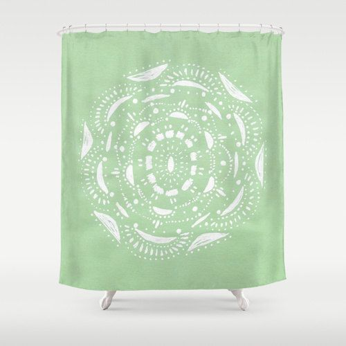 Mint Green Shower Curtain light green curtain pastel by lake1221 ...