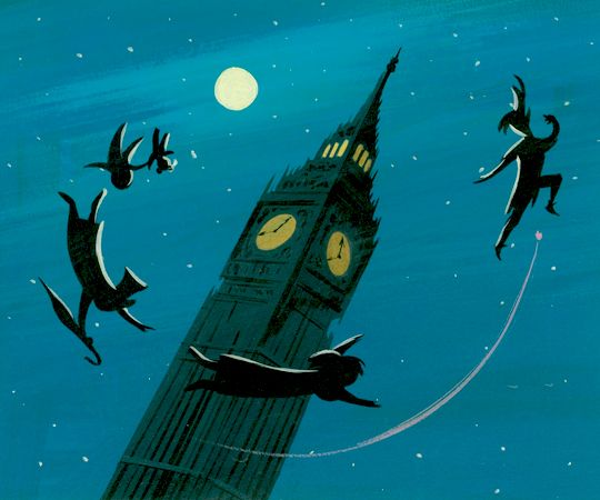 """vintagegal: """" Concept art by Mary Blair for Disney's Peter Pan (1953) """""""