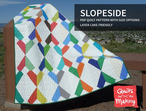 Slopeside PDF quilt pattern with size by QuiltsForTheMaking, $9.00