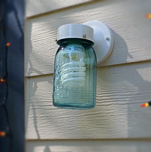 How To Make A Diy Mason Jar Porch Light In 30 Seconds Mason Jar Diy Mason Jar Lighting Jar Lights