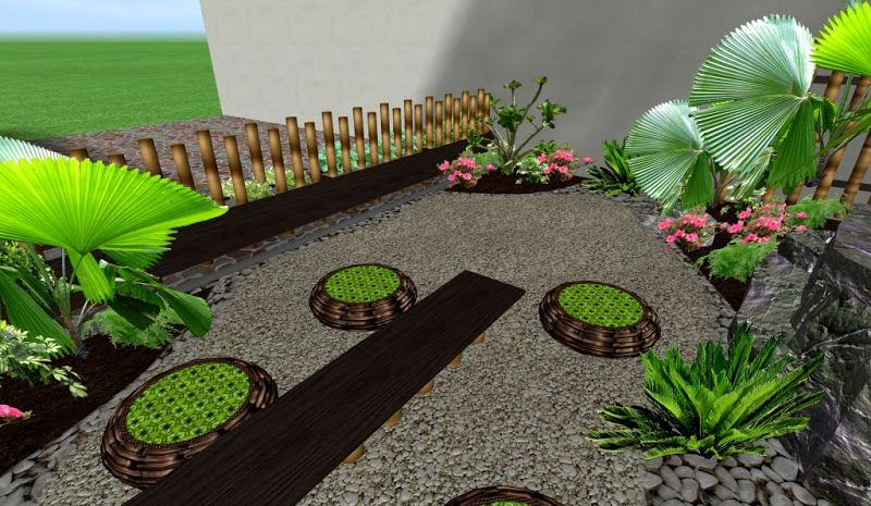 adornos muebles y decoraciones hermosos para un jardin pequeño ...