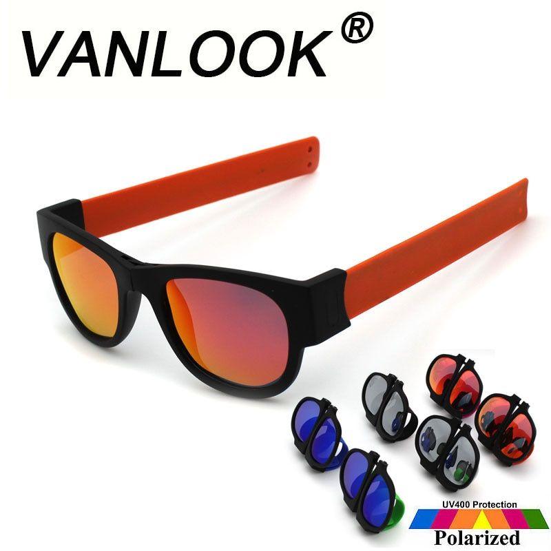 abf023ef5d4 Slap Sunglasses Polarized Mirror Women Slappable Bracelet Sun Glasses for  Men Wristband Fold Shades Oculos Colorful Fashion