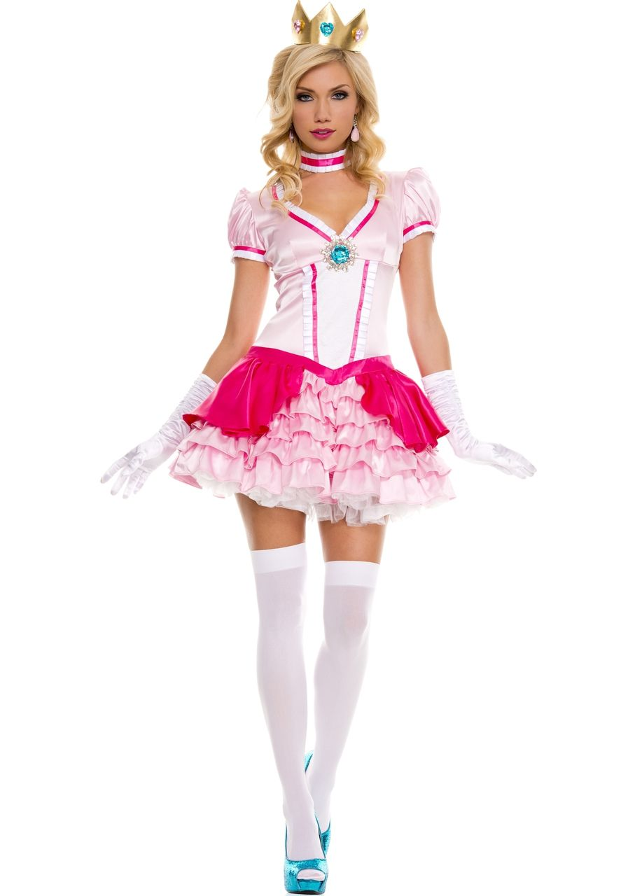 390b0b2365c Sexy Music Legs Pink Peachy Princess Peach Super Mario Bros. Brothers Party  Halloween Costume