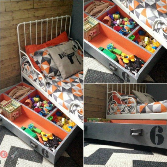 A Great Way To Store Kids Toys In Their Room Is To Use An Under Bed