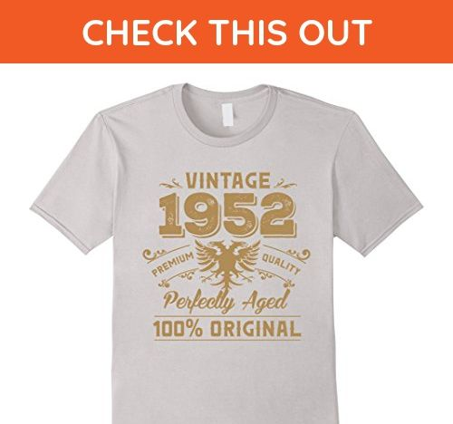 Mens Vintage Perfectly Aged 1952 Birthday Gift For 65 Years Old 2XL Silver
