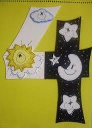Resultado de imagem para avental criativo para contar a historia da criação do mundo na educação infantil