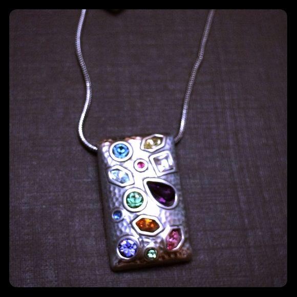 Brighton necklace with multi colored stone pendant brighton brighton necklace with multi colored stone pendant aloadofball Gallery