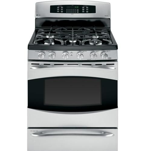 "GE Profile 30"" Free-Standing Self Clean Gas Range with Baking Drawer"