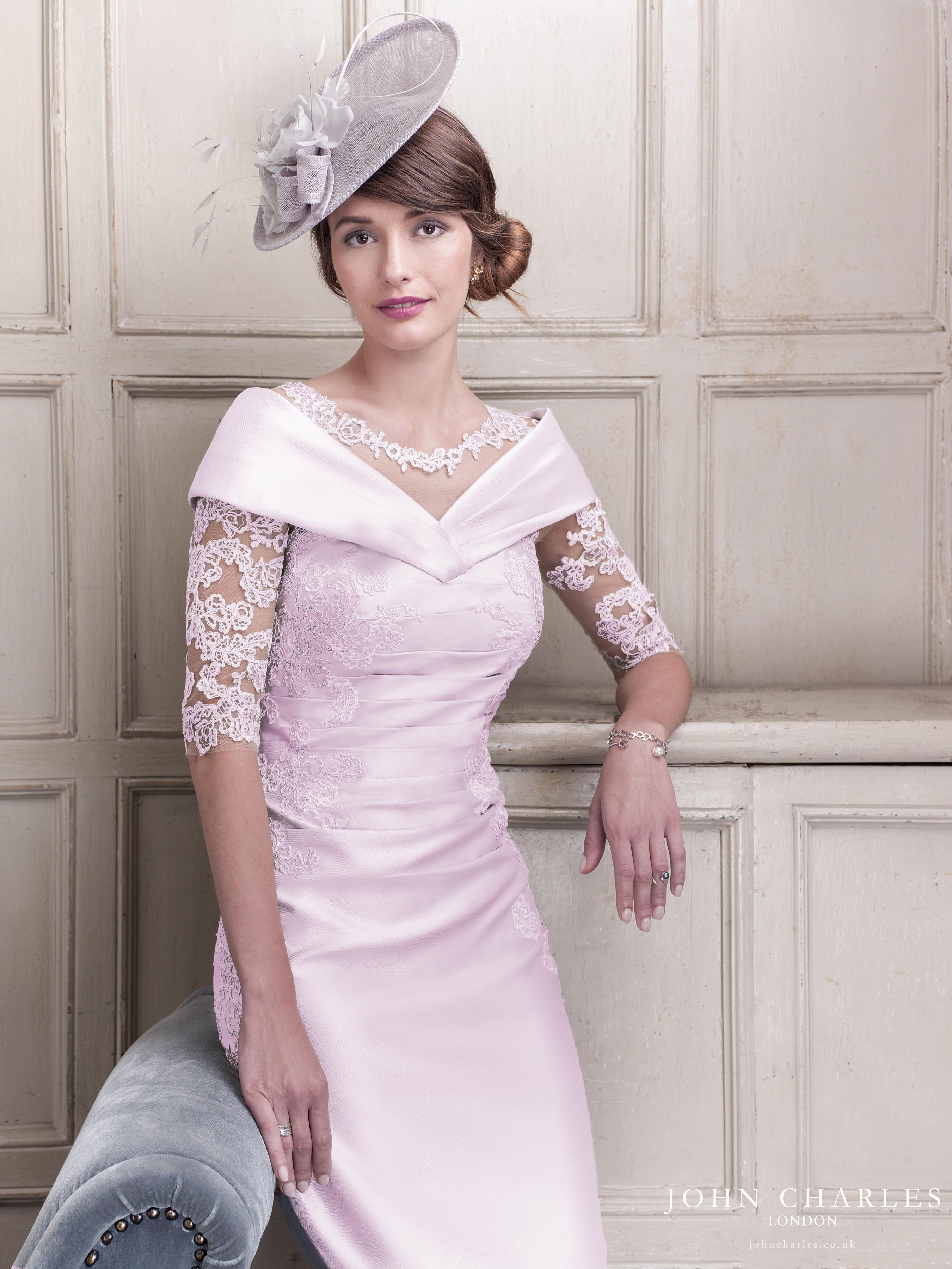 John Charles 26416 R Fitted Dress With Lace Sleeves In 2020 Bride Clothes Mother Of The Bride Outfit Mother Of Bride Outfits