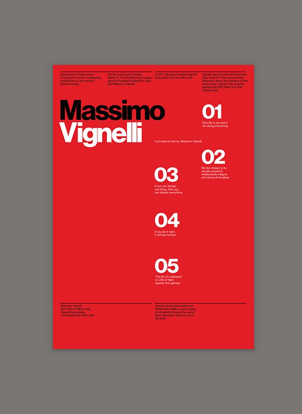 Vignelli—isms.