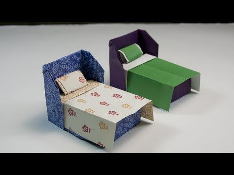 How To Make A Paper Sofa Easy Youtube Paper Ideas Pinterest