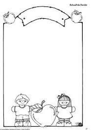 Resultado de imagen para bordes escolares en blanco y