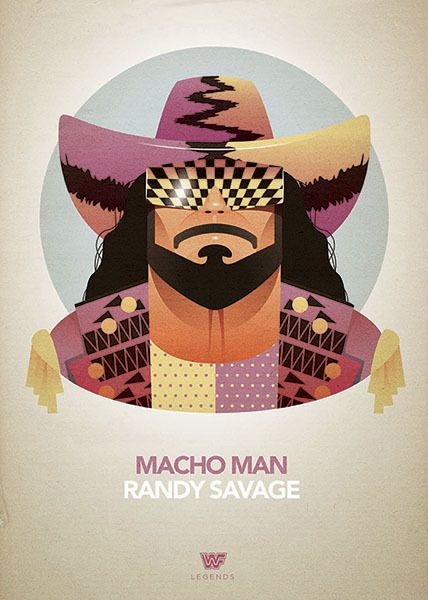 Legends of Wrestling - Posters by Dave Merrell, via Behance
