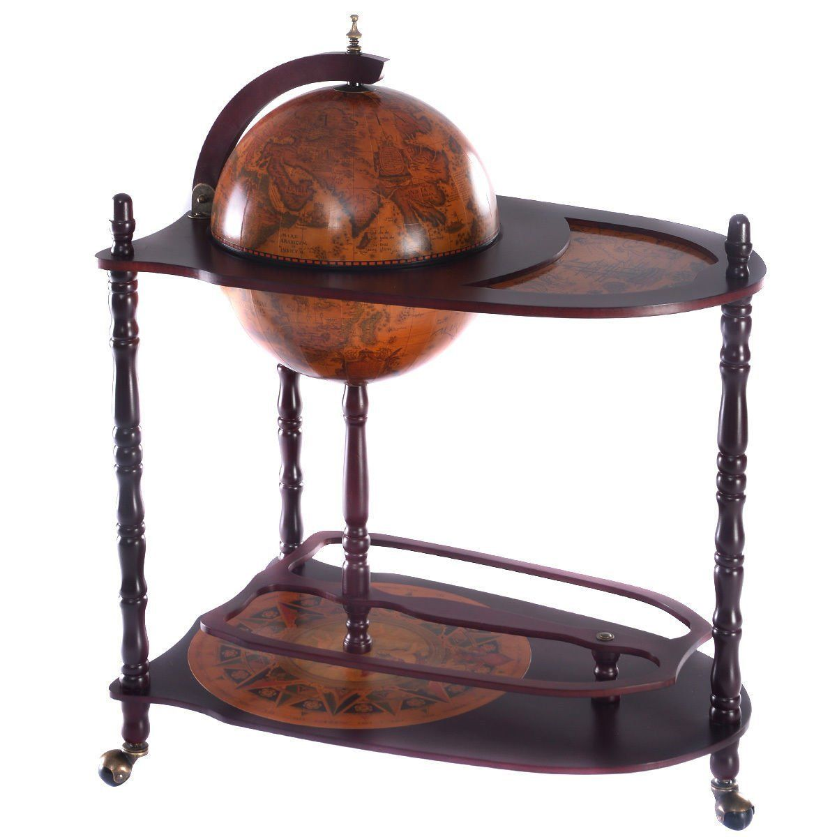 Amazon Com Goplus 34 Wood Globe Wine Bar Stand 16th Century