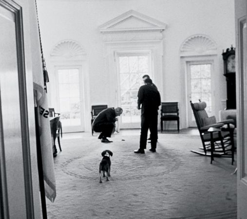lbj oval office. President Lyndon B. Johnson Picking Up Dog Poop In The Oval Office. (You Lbj Office