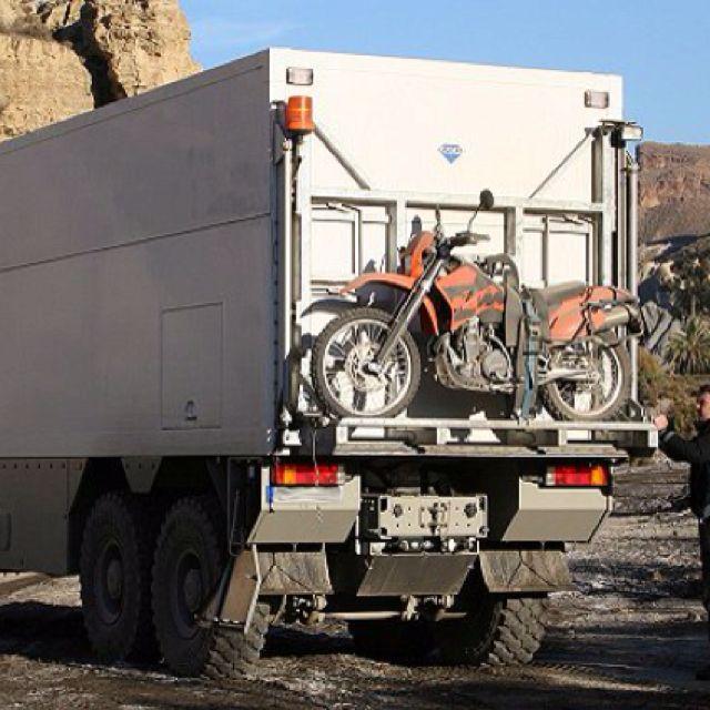 Garbage Truck Camper bike on back. | Campers | Pinterest | Truck ...