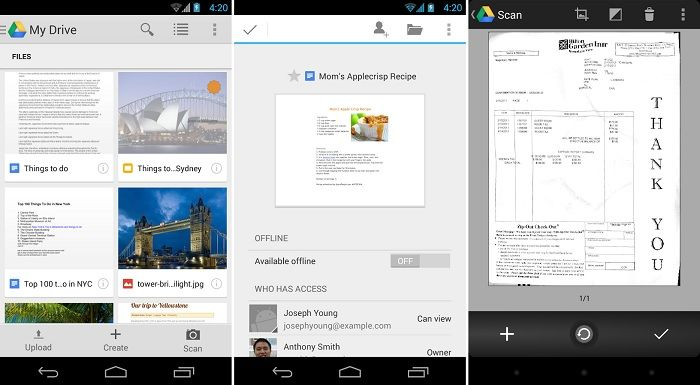 Google Drive Updated, Asks You To Install Doc and Sheets App