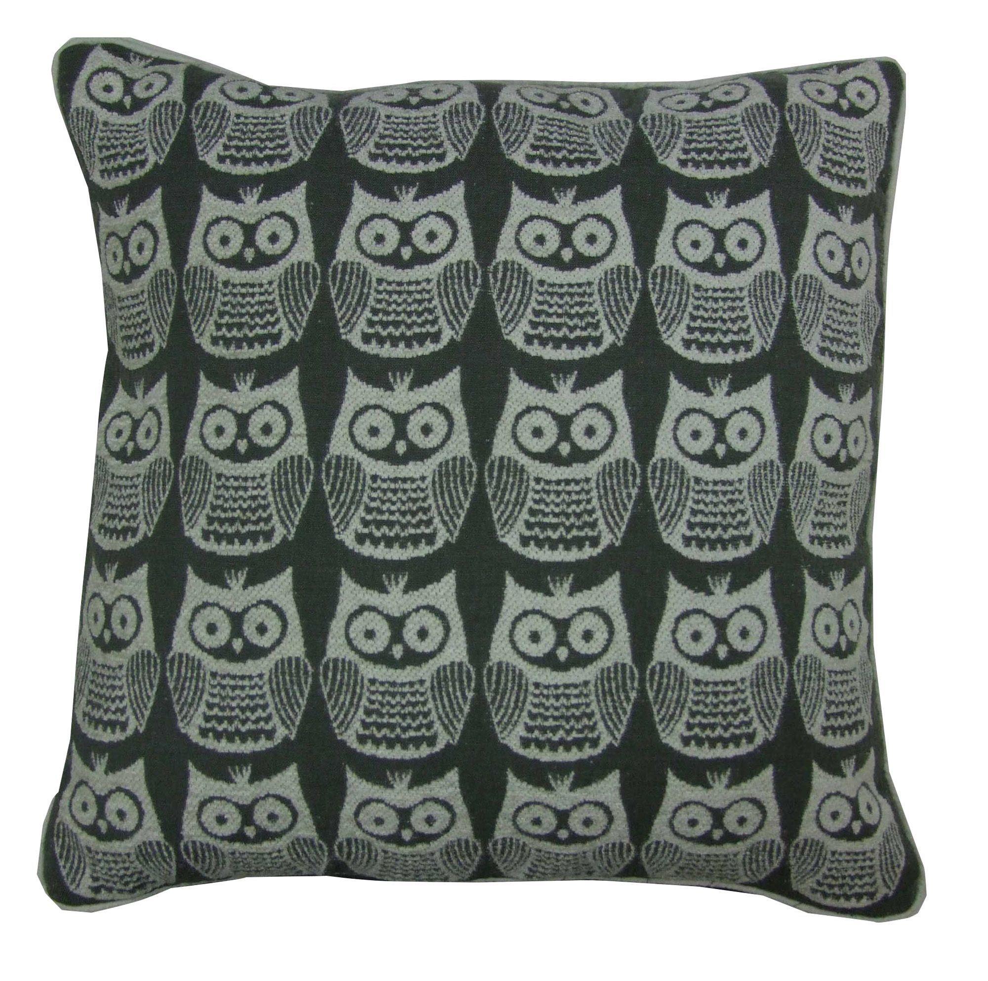 Taquara Owl Grey Cushion | Departments | DIY at B&Q