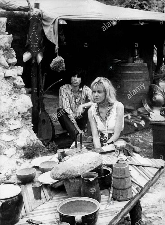 Keith Richards and Anita Pallenberg - 1968