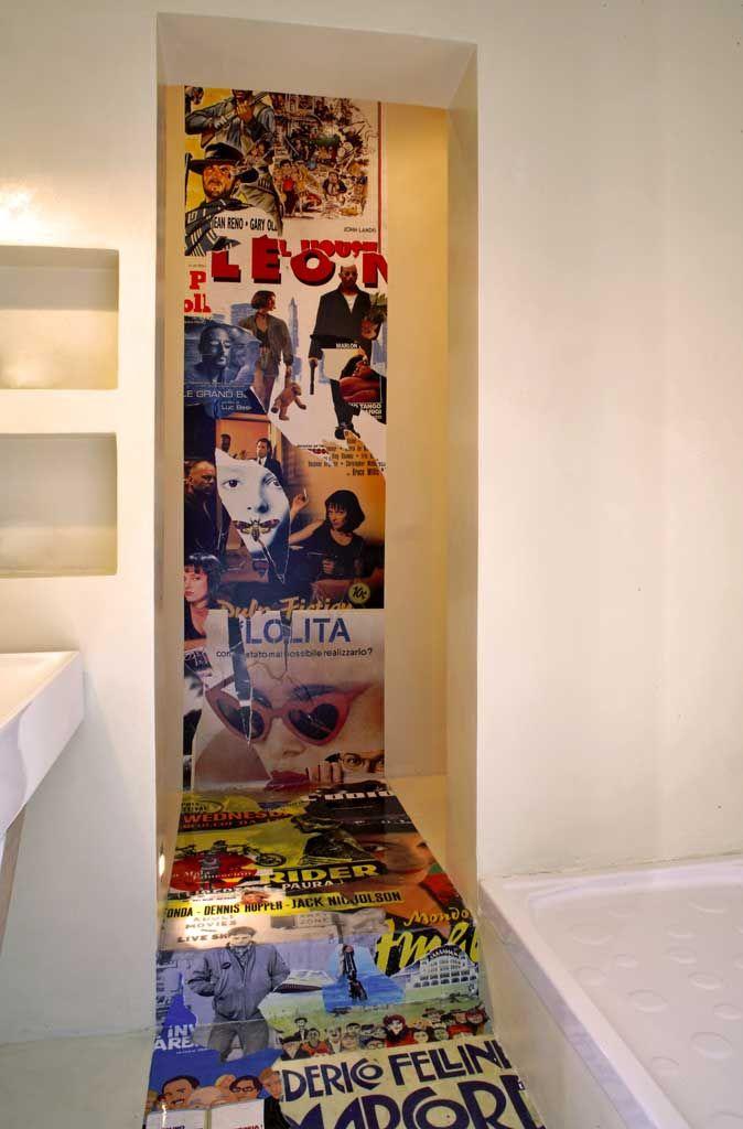 parete decorazione inserto con resina a parete e pavimento ...