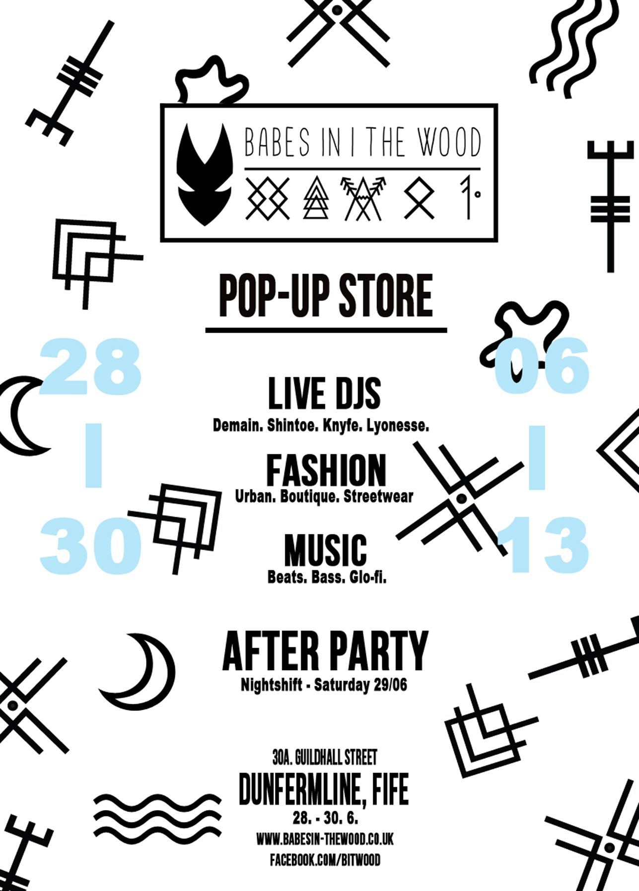 Flyer For Our First Pop Up Shop