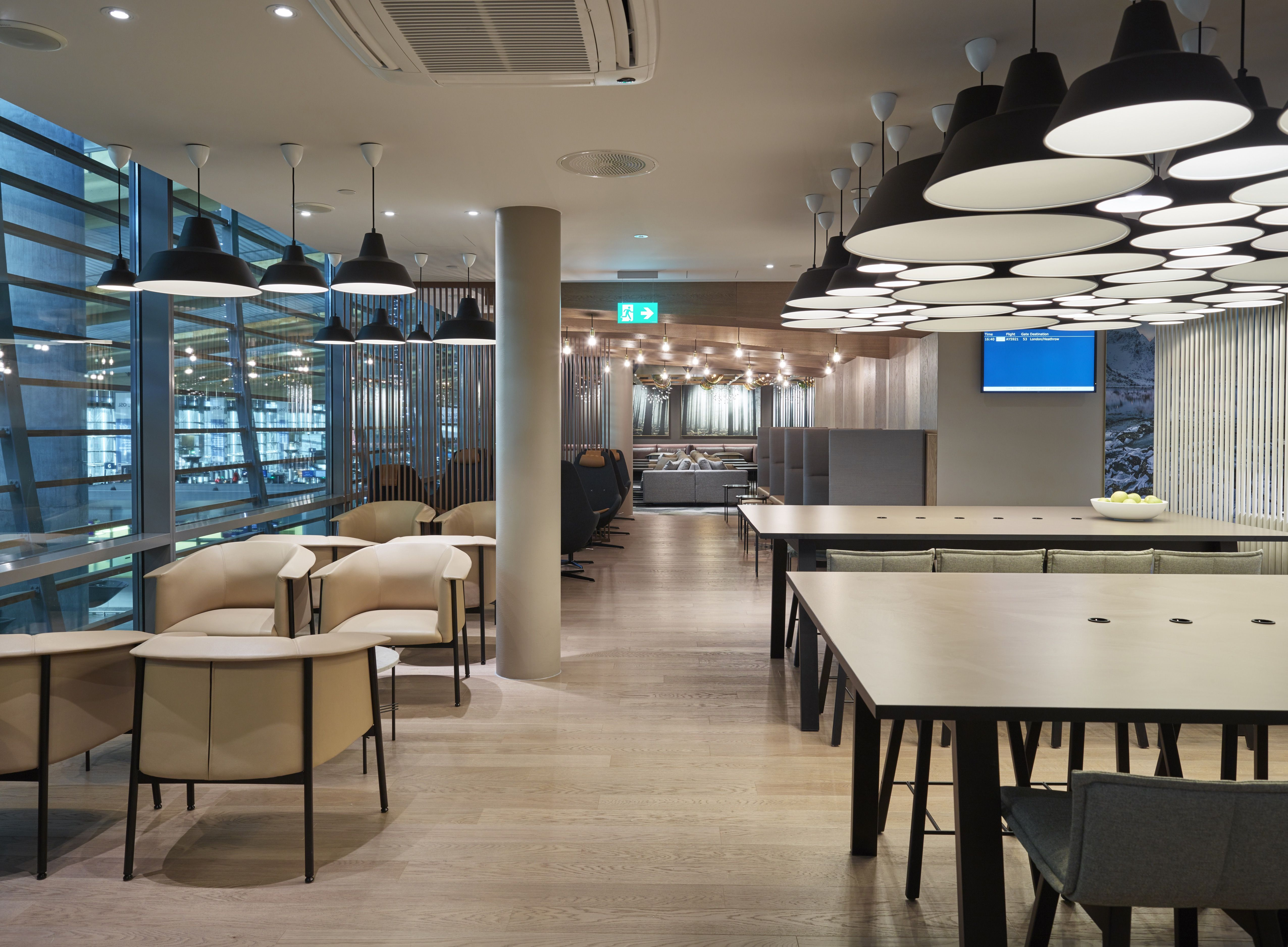 Business Class Lounge at Oslo Airport Gardermoen, designed by ...