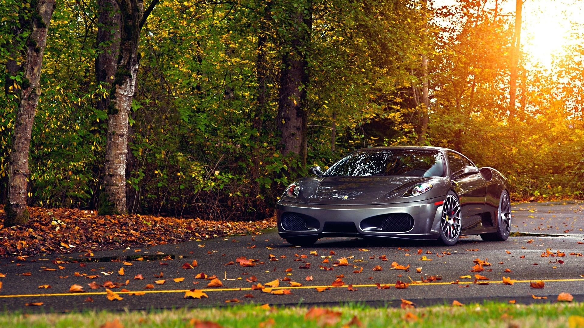 1920x1080 Wallpaper Ferrari 430 Scuderia Park Autumn Auto In 2020 Ferrari Car Ferrari Car Wallpapers