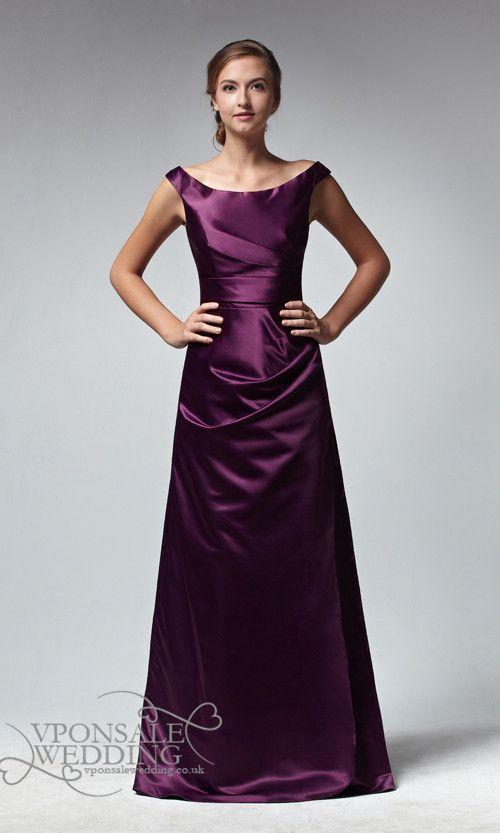 Long Sleeveless Satin Bridesmaid Dresses DVW0112 | VPonsale ...