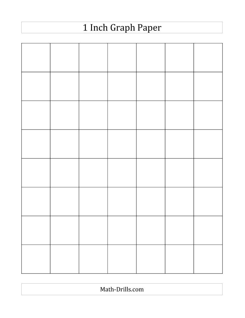 Great 1 Inch Graph Paper (A) For Arrays Using Dot Markers Or Bingo Markers