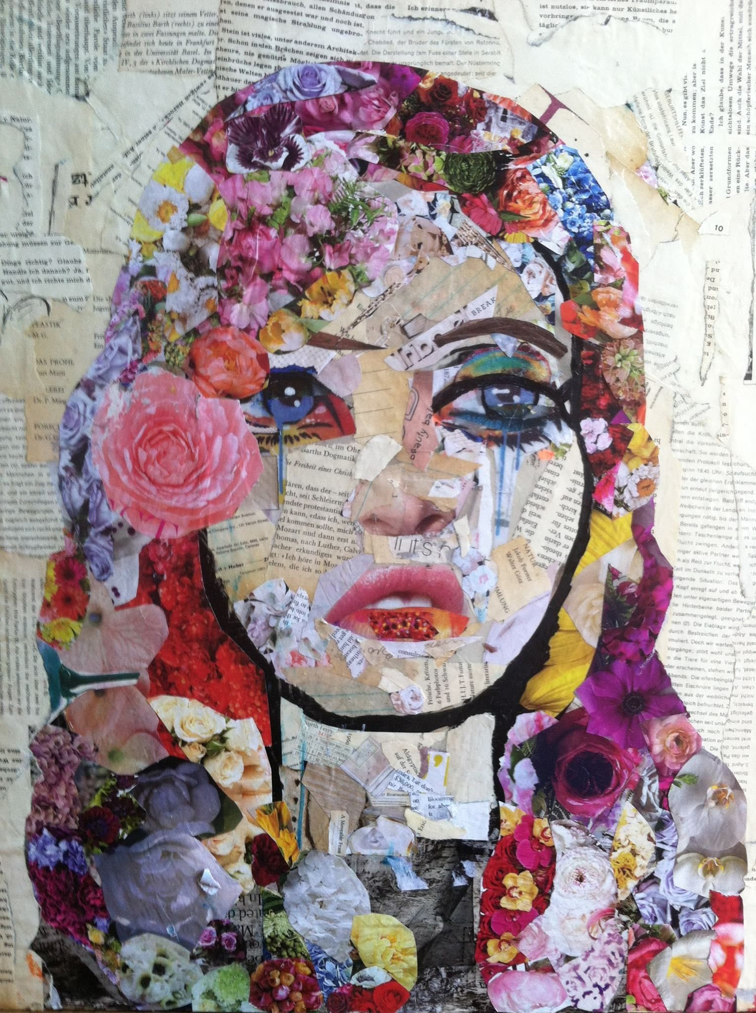 Mixed media art collages pinterest kunstunterricht for Ideen fa r fotocollage