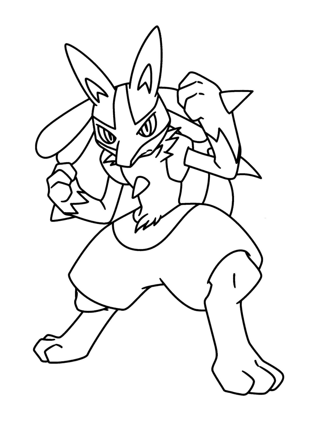 Lucario Coloring Page Free | 101 Worksheets | Pokemon ...
