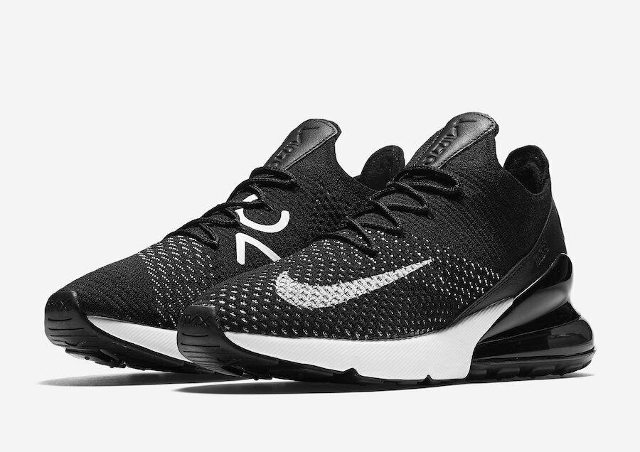 29d4667fb8567 Nike Air Max 270 Flyknit Oreo Black White Sneakers AH6803 Women's ...