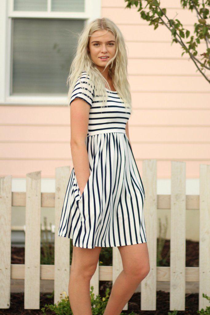 Alexis Stripe Dress - 3 Colors