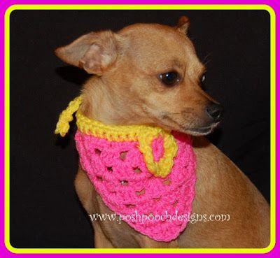 Crochet Pattern For Dog Bandana Collar Pinterest Crochet