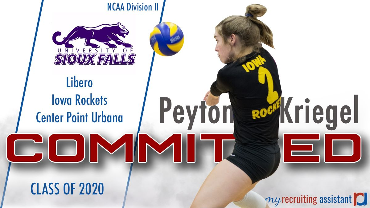 Class Of 2020 Ncaa Division Ii Univ Of Sioux Falls Volleyball Commit Recruitment Class Of 2020 Sioux Falls