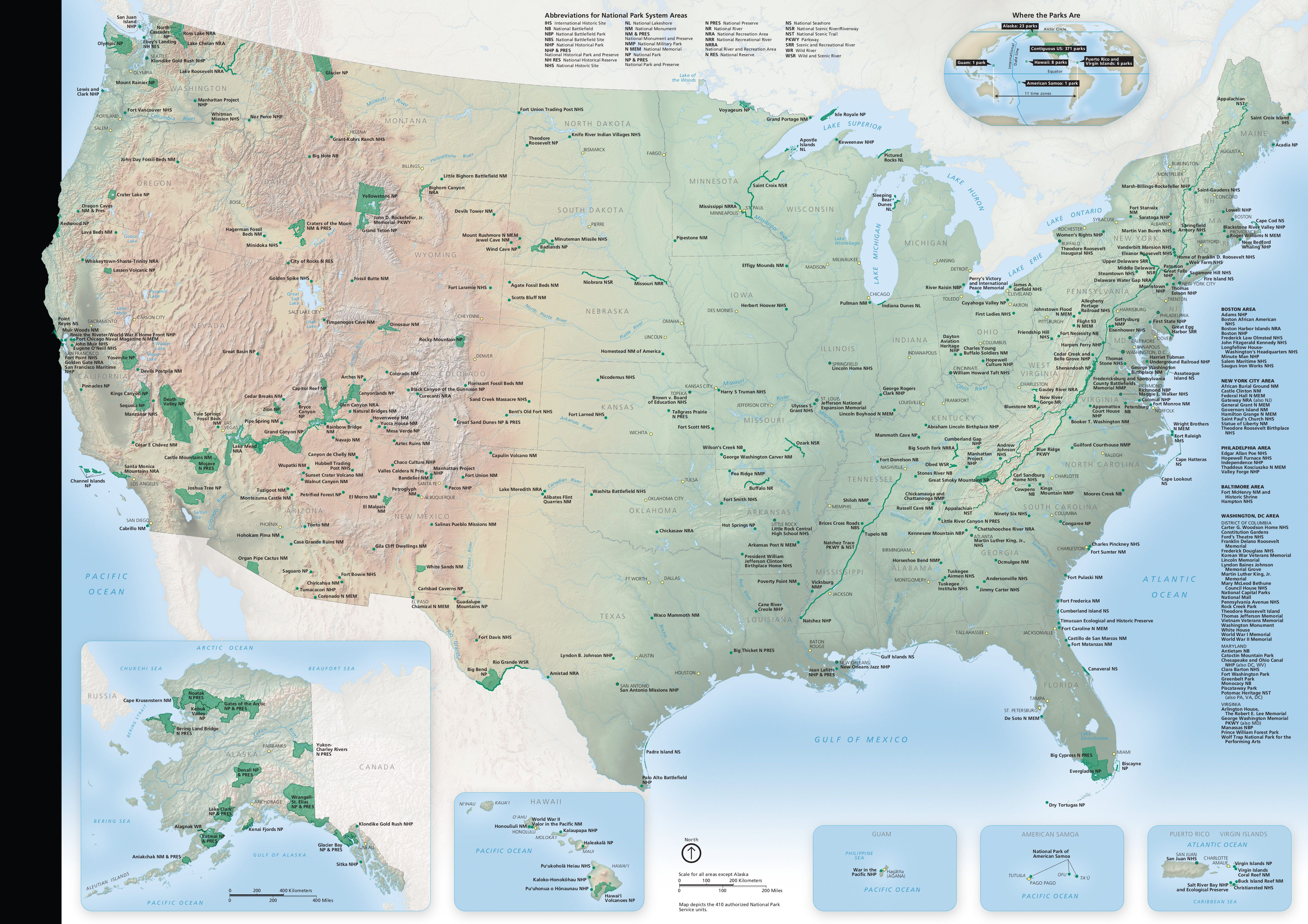 Digitized map of every state park in