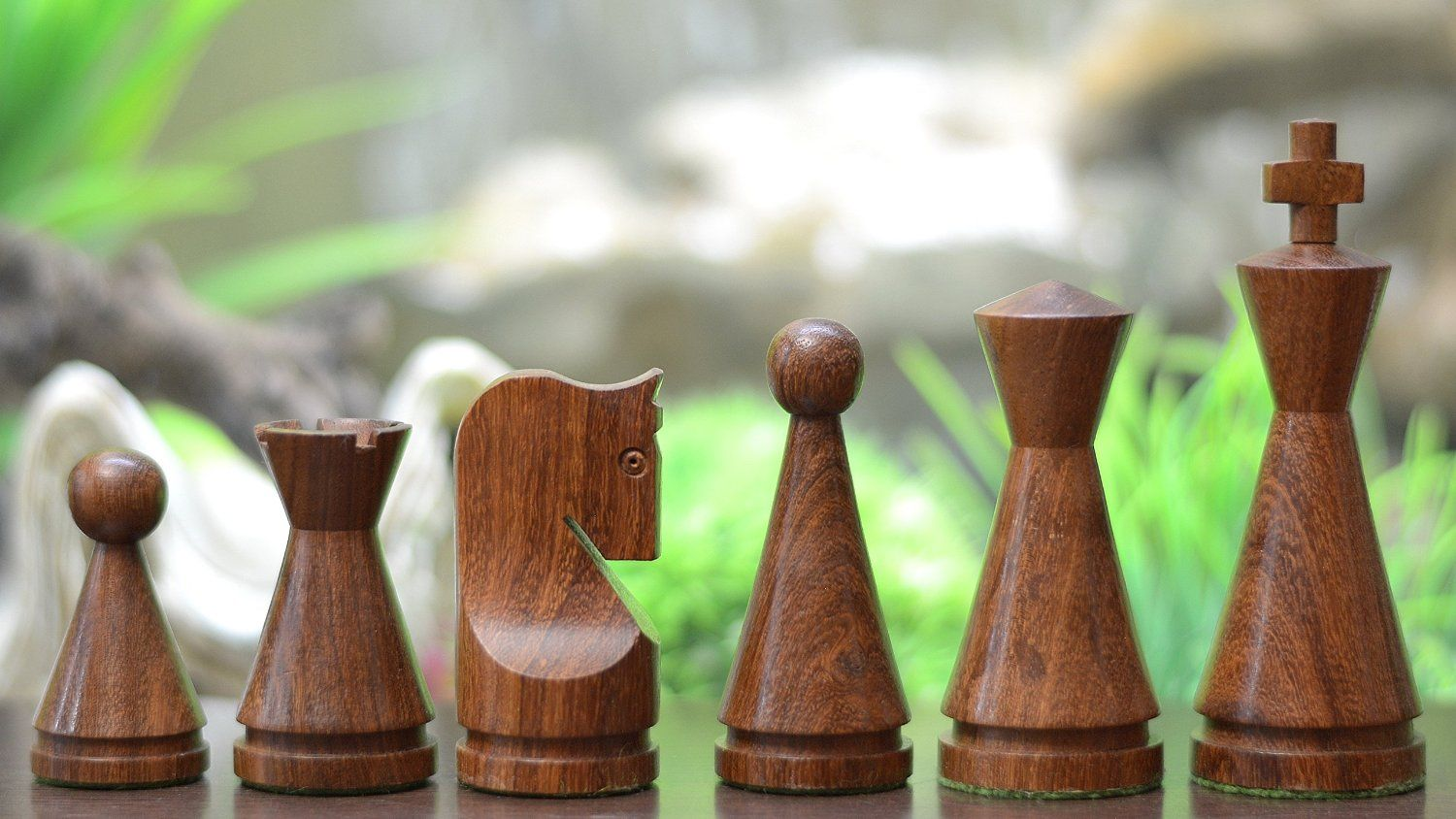 Chessbazaar Indian Wooden Weighted Turned Cone
