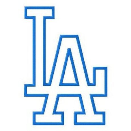 e6ac8426ba4f5 LA Los Angeles Dodgers Baseball Logo 10 by sportsembroidery