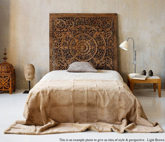 King Size Bed Headboard Hand Carved Wood Panel Carving Teak Wood Wall Art From Thailand Asian Home Decor 6 39 X6 39 Gorgeous Bedrooms Home Bedroom Home