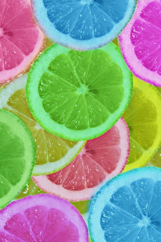 These neon fruits were died in food dye and then let soak for five ...