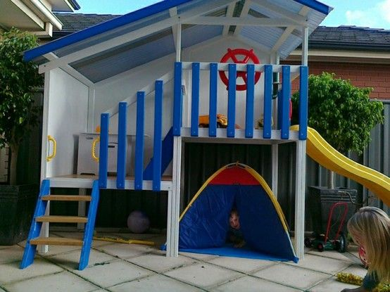 boys cubby house Back Yard Pinterest Casitas, Ideas jardin y