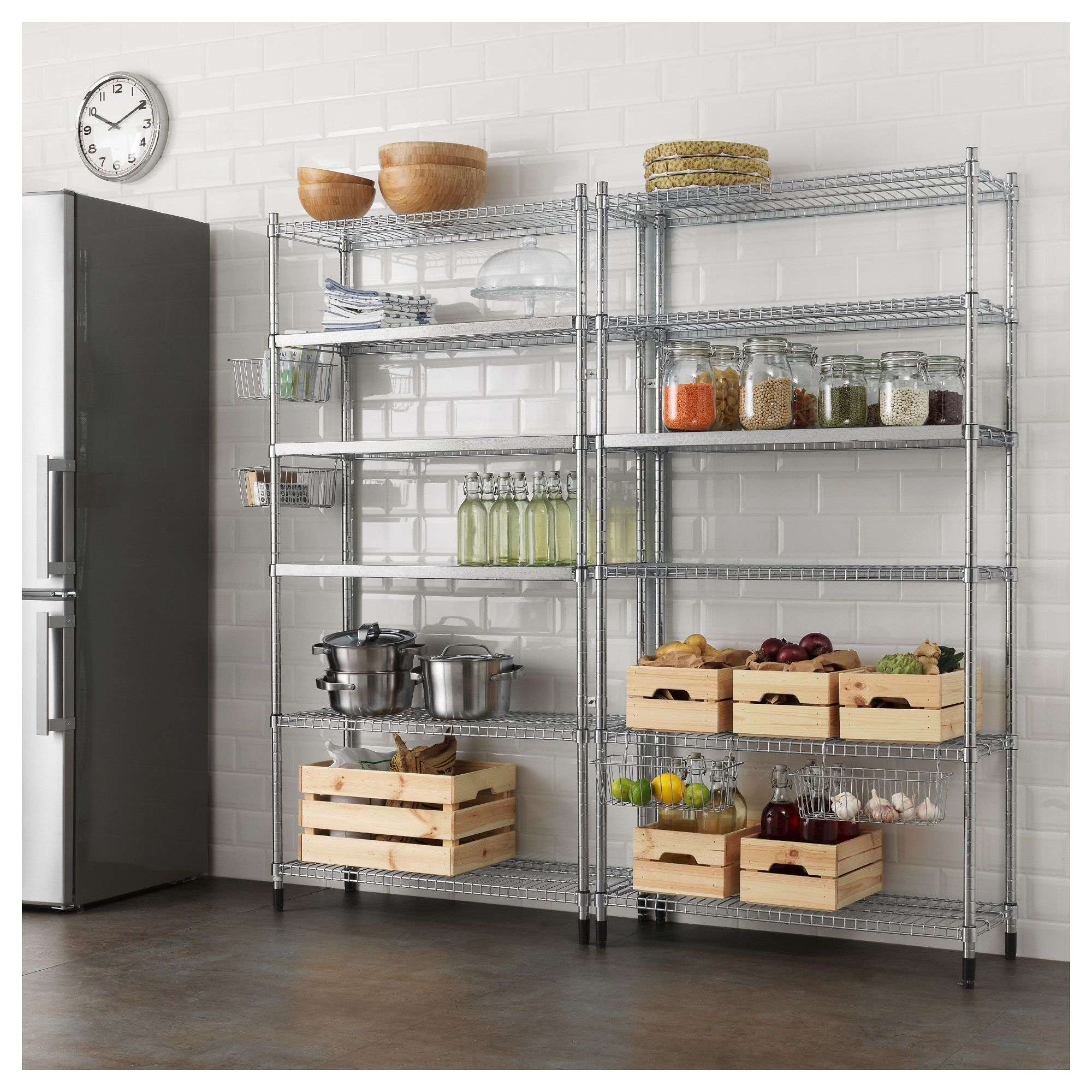 OMAR 2 section shelving unit | Shelves, Storage and Spaces