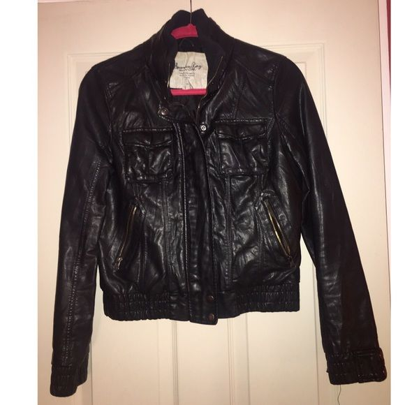 American Rag faux leather jacket Great used condition American Rag Jackets & Coats