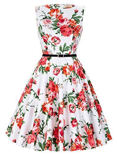 Damen 50s Vintage Retro Rockabilly Kleid Partykleid; Die Kleider ...
