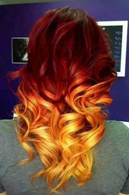 Orange Ombre Hair Flickr Photo Sharing Hair Styles Orange Ombre Hair Fire Hair
