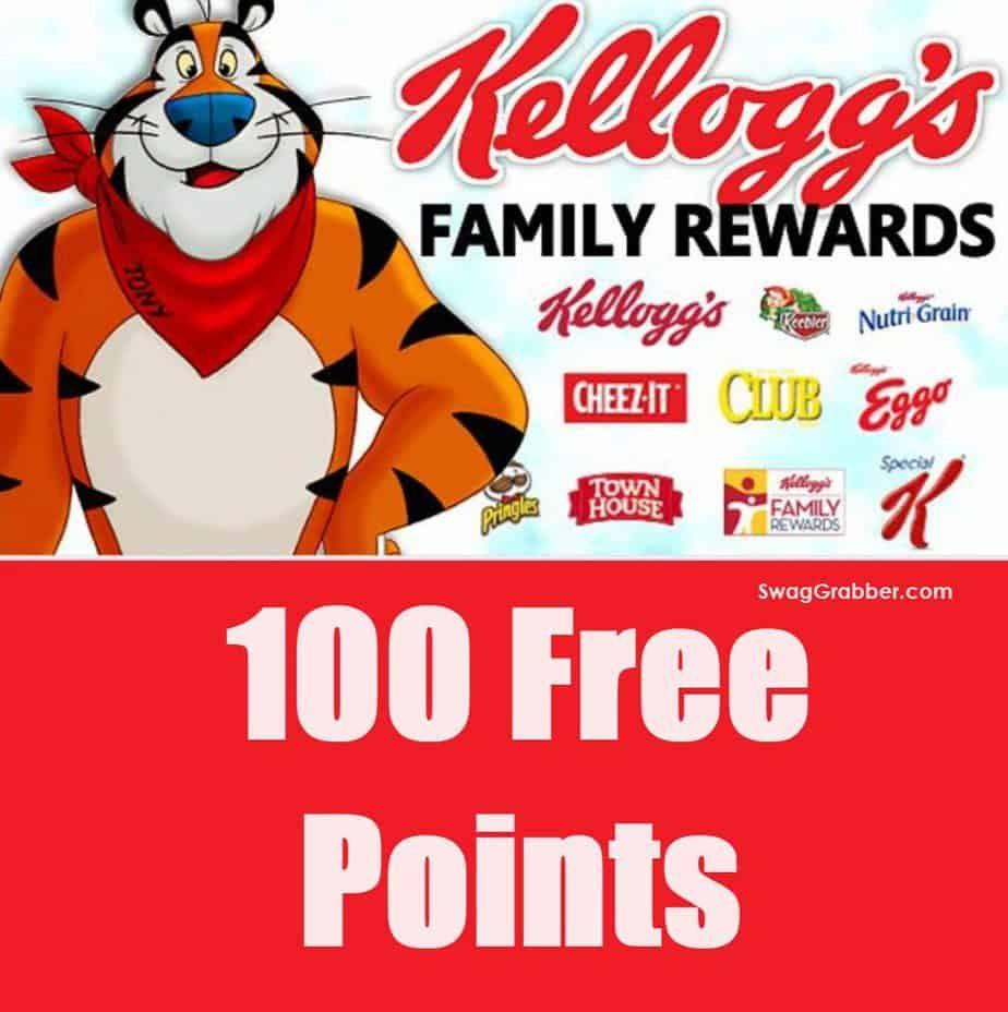 100 Free Kellogg S Family Rewards Points 100 Free The 100 Free