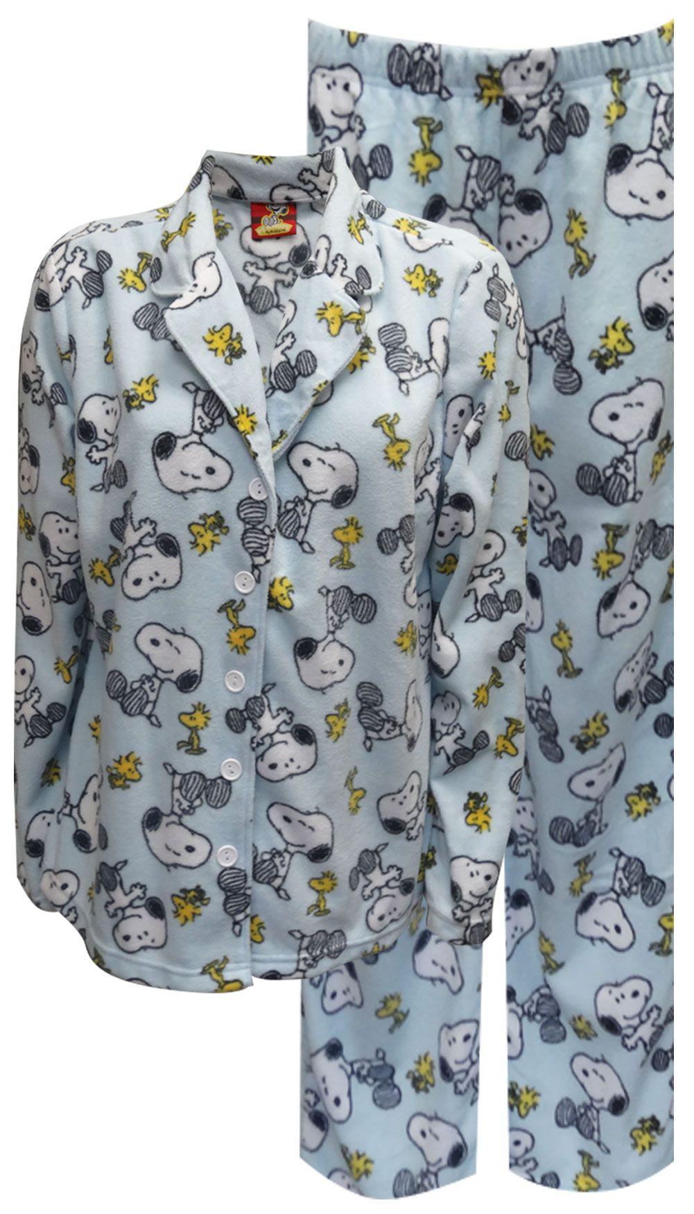 WebUndies.com Peanuts Snoopy and Woodstock Light Blue Plush Pajama I have ones like these and I love them