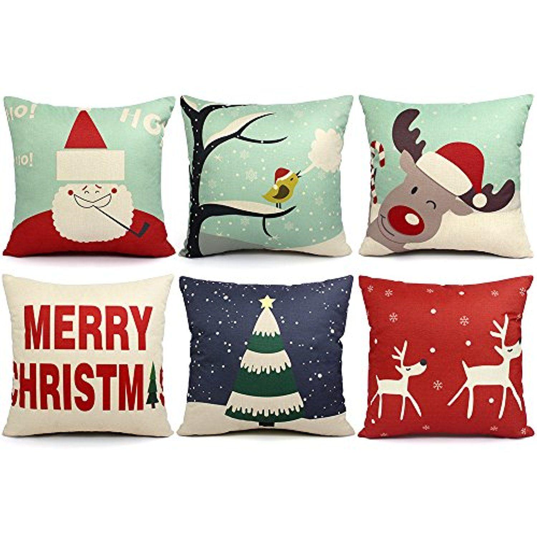 packs chirstmas pillows covers x christmas dÃcor pillow