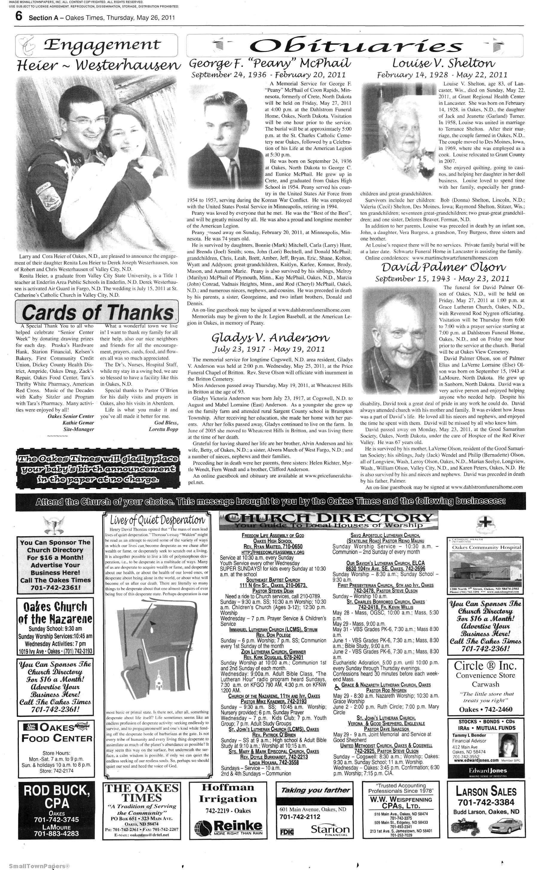 Oakes Times May 26 Page 4